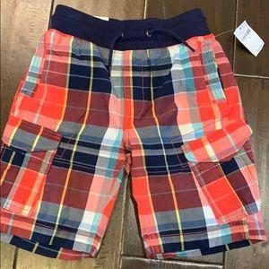 Gap Kids Size S plaid cargo shorts
